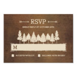 Rustic Woodland RSVP /Wedding Response Cards Personalized Invitations