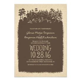 Rustic Woodland Wedding Invitations 5
