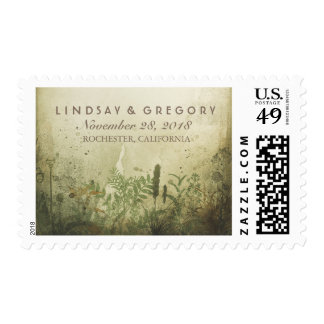 Rustic Woodland Wedding Postage Stamps