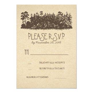 Rustic Woodland Wedding RSVP Cards