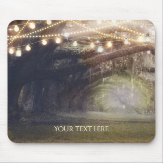 Rustic Woods Enchanted Forest & Lights Elegant Mouse Pad