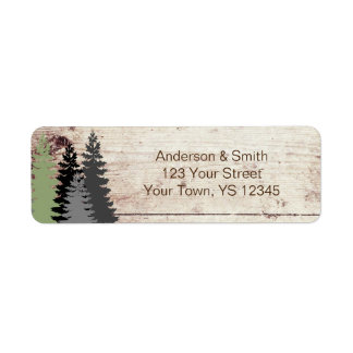Rustic Woods Evergreen Pine Label