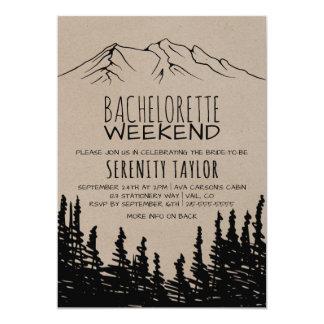 Rustic Woodsy Mountain Bachelorette Weekend Invitation