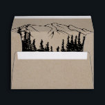 """Rustic Woodsy Mountain Wedding Invitation Envelope<br><div class=""""desc"""">These rustic woodsy mountain wedding invitation envelopes are perfect for a woodland wedding. The nature inspired design features the silhouette of a pine tree forest and mountains on faux kraft paper. Personalize the envelope flap with your return address. Please note: This is not printed on real kraft paper. It is...</div>"""