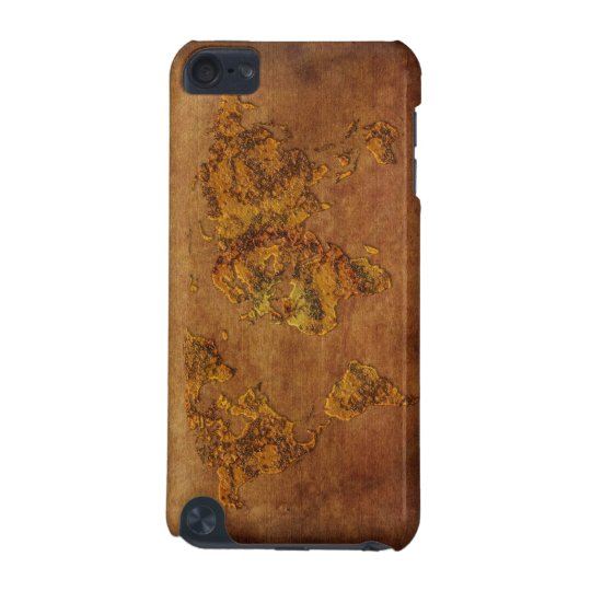 Rustic World Map s iPod Touch (5th Generation) Case