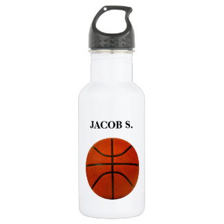 Rustic Worn Basketball Stainless Steel Water Bottle