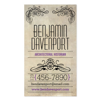 Rustic Worn Paper - Purple Double-Sided Standard Business Cards (Pack Of 100)