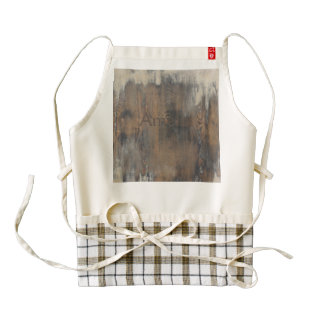 rustic,worn,wood,brown,wall,vintage,country,chic,s zazzle HEART apron