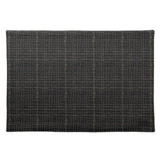 Rustic Woven Elegant Black Burlap Cloth Placemat