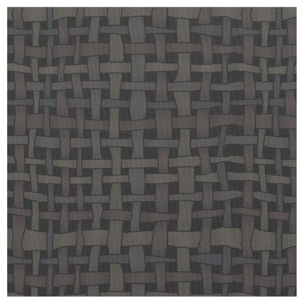 Rustic Woven Elegant Black Burlap