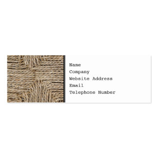 Rustic Woven Pattern Image Business Card