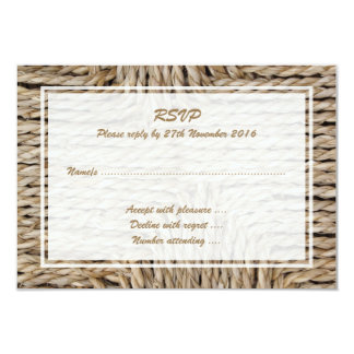 Rustic Woven Pattern Image. Card