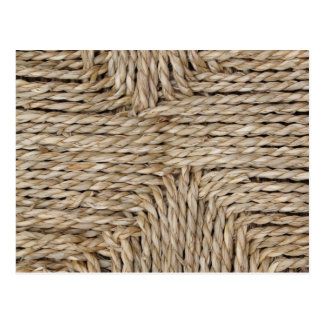 Rustic Woven Pattern Image. Post Card