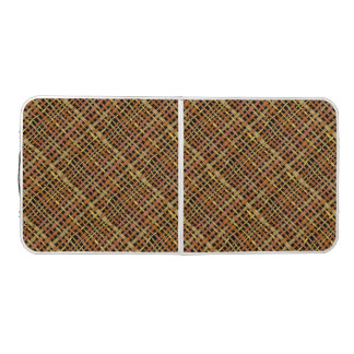 Rustic Woven Rough Burlap Natural Colors Pong Table