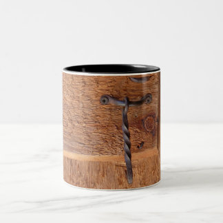 Rustic Wrought Iron Door Latch Two-Tone Coffee Mug