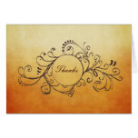 Rustic Yellow and Orange Bohemian Thank You Note Card