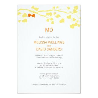 Rustic Yellow And Orange Fall Wedding Invitation