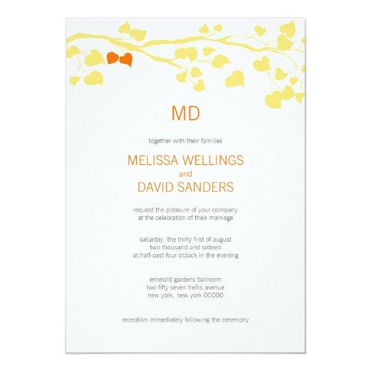 Rustic Yellow And Orange Fall Wedding Template