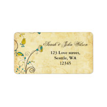 rustic  yellow floral ,return address label