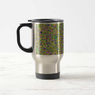 Rustic Yellow Mosaic 'Clay' Tiles Pattern Travel Mug
