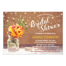 Rustic Yellow Rose | Bridal Shower Invitation
