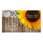 rustic yellow sunflower lace country flower shop Double-Sided standard business cards (Pack of 100)