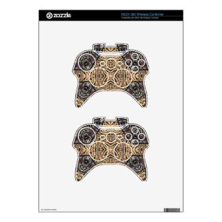 Rustic Zebra Abstract Xbox 360 Controller Skins