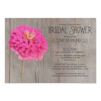 Rustic Zinnias Bridal Shower Invitations
