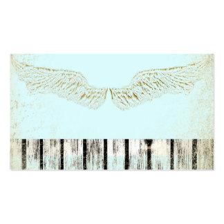 Rústicas, espiritual, alas del ángel, tarjetas de tarjetas de visita