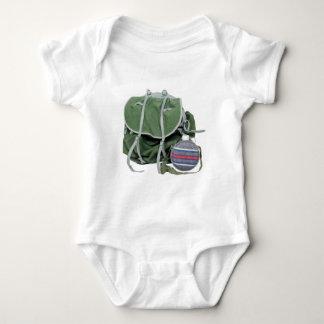 RusticBackpackCanteen050209 Baby Bodysuit