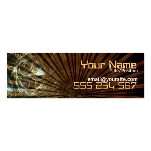 RusticBub Skinny Profile Double-Sided Mini Business Cards (Pack Of 20)