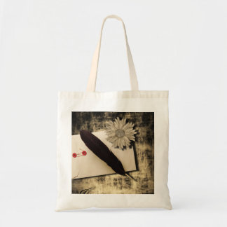 RusticDaisy LoveLetter Vintage Wedding Canvas Bag