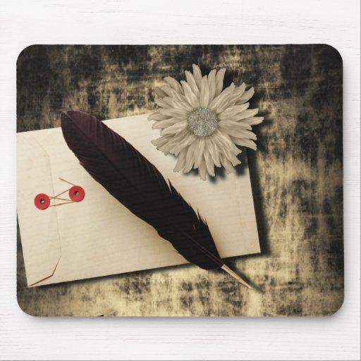 RusticDaisy LoveLetter Vintage Wedding Mouse Pad