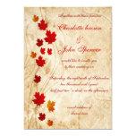 Rústico, invitaciones de la caída de las hojas de invitación 12,7 x 17,8 cm