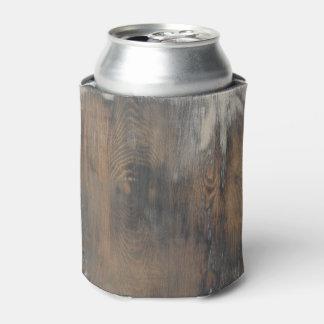 rústico, llevado, madera, marrón, pared, vintage, enfriador de latas
