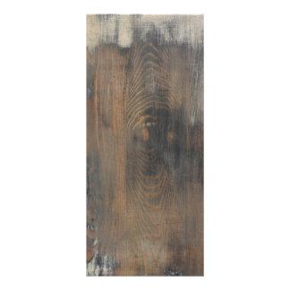 """rústico, llevado, madera, marrón, pared, vintage, folleto publicitario 4"""" x 9"""""""