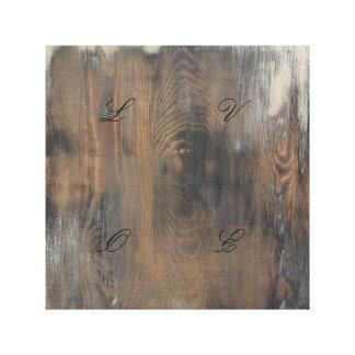 rústico, llevado, madera, marrón, pared, vintage, impresión en lienzo