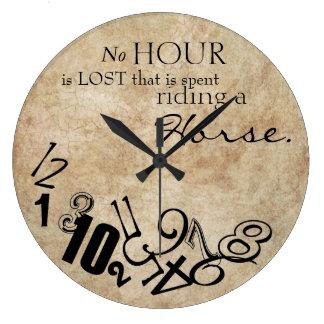 Rústico no se pierde ninguna hora que monta un cab reloj de pared