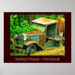 Rusting in Peace, Kula Hawaii, Old Truck Print