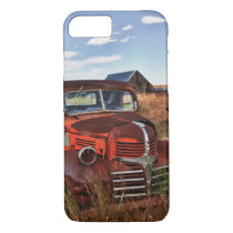 Rusting orange Dodge truck with abandoned farm iPhone 8/7 Case