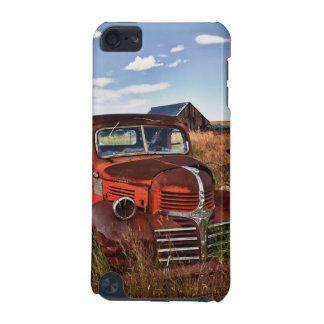 Rusting orange Dodge truck with abandoned farm iPod Touch (5th Generation) Case