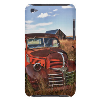 Rusting orange Dodge truck with abandoned farm iPod Touch Cover