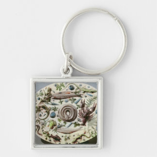 Rustique Figuline' dish with a white background Keychain