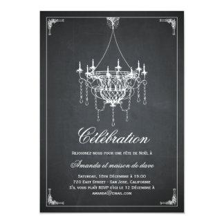 Rustique invitations de partie de lustre