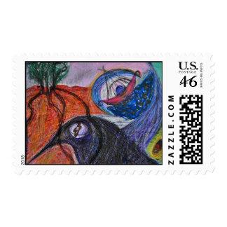rustling birch postage stamp