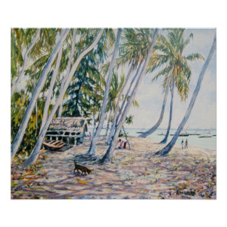 Rustling Palms Zanzibar 2002 Poster