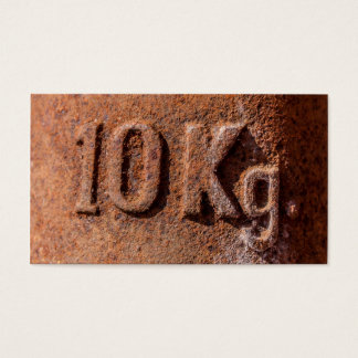 Rusty 10 kg business card