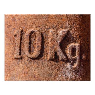 "Rusty 10 kg 8.5"" x 11"" flyer"