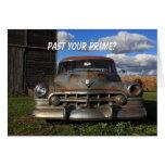 Rusty 1950 Cadillac Greeting Card