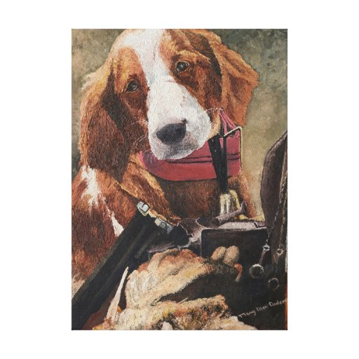 Rusty - A Hunting Dog Canvas Prints